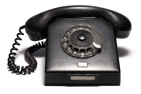 Retro Phone Isolated on White Background Stock Photo - 4176898