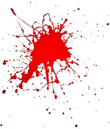 Red splash on white backgrpound Stock Photo