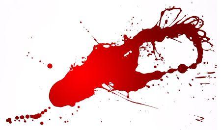 Red splash on white backgrpound Stock Photo - 4176843