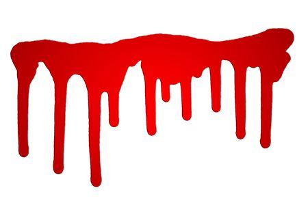 Red splash on white backgrpound Stock Photo - 4176815