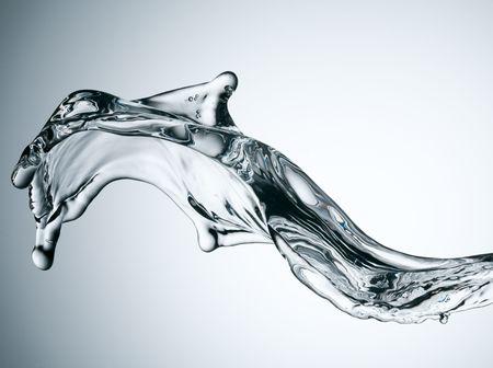 shot of water splashing  photo
