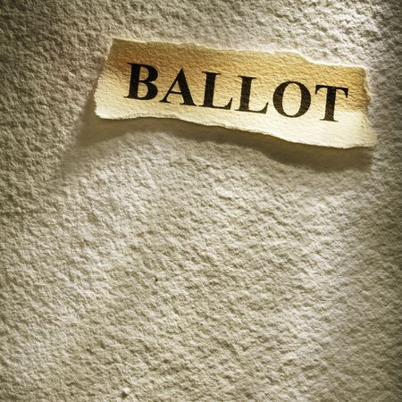 headline ballot on the old paper backgroune photo