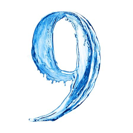 One letter of water alphabet Stock Photo - 4586845