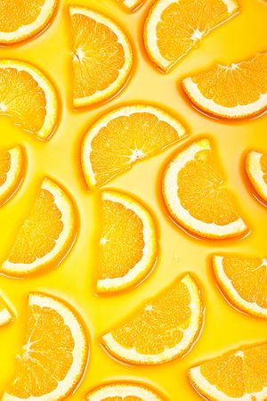 Hi res orange slices background photo