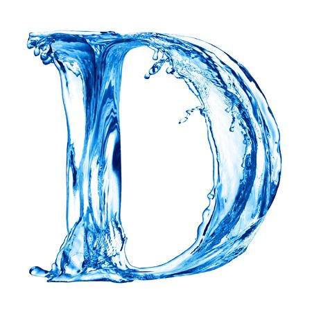 ripple effect: One letter of water alphabet