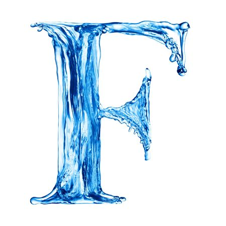 One letter of water alphabet Stock Photo - 4592758