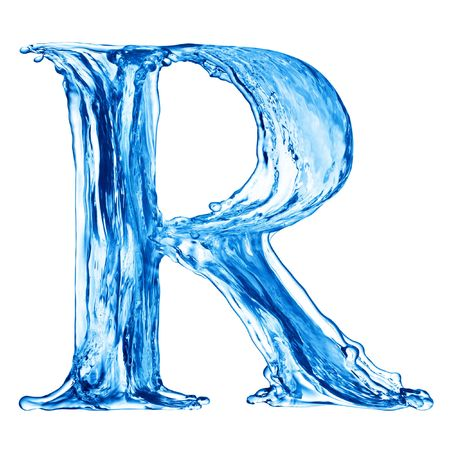 One letter of water alphabet Stock Photo - 4592800