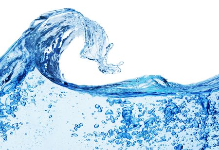 water to flow: Isolated shot of water splashing  Stock Photo