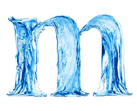 One letter of water alphabet Stock Photo - 4621491