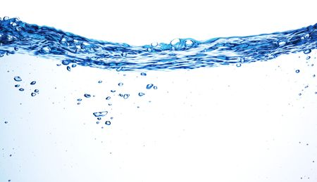 Isolated shot of water splashing  Stock Photo