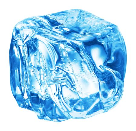 Close up view of the ice cubes in water Stock Photo - 4881791