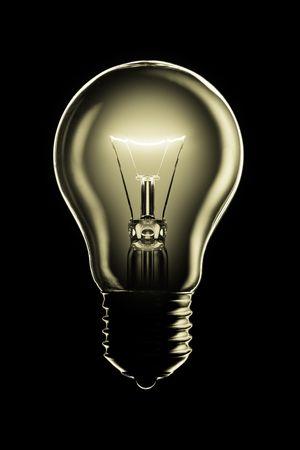 Glowing lamp on black background Stock Photo - 4881760