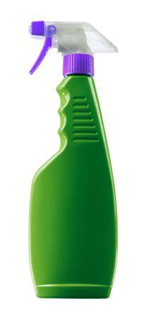 Detergent spray bottle isolated on white background photo
