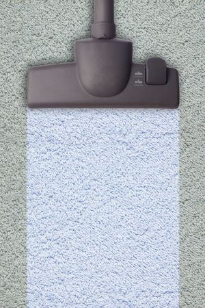 Vacuum cleaner, isolated on white background photo