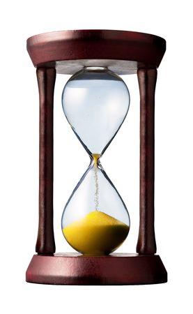 hourglass closeup shot (isolated - white background) Stock Photo
