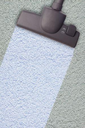 carpet wash: Vacuum cleaner, isolated on white background Stock Photo