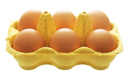 Close up view of eggs in a cartoon photo