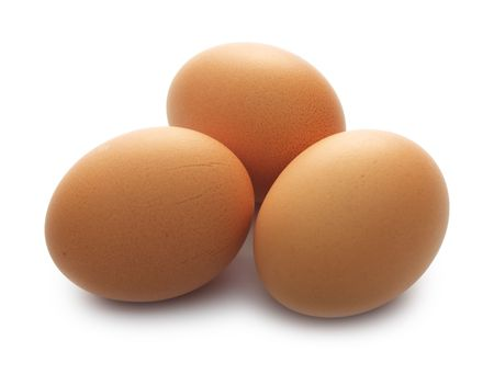 white chicken: Close up view of eggs in a cartoon