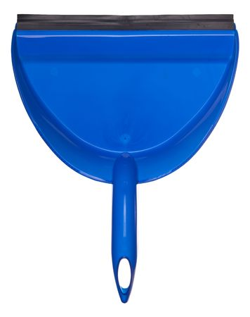 blue dustpan isolated on white Stock Photo - 5627996