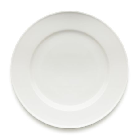 empty dinner plate isolated on white Stock Photo - 5627987