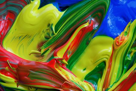 vibrant color paint background Stock Photo - 5888706