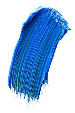 refurbishing: vassoio di vernice blu isolato over white