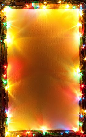 Festive background with lifghts and paper background photo