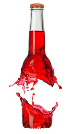 Color bottle isolated on a white  photo