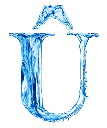 One letter of water alphabet photo