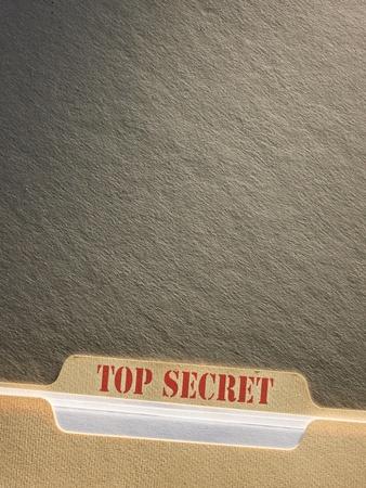 top secret: Top secret file folder on background