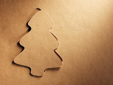cristmas card: Cristmas tree paper cutting design card.