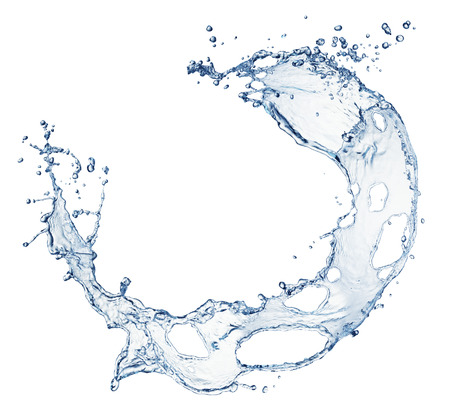 blue water splash isolated on white background Stock Photo