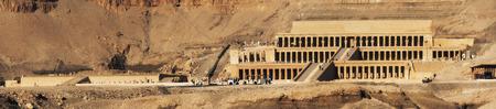 mortuary: Egypt. Luxor. Deir el-Bahari (or Deir el-Bahri). The Mortuary Temple of Hatshepsut - general view