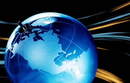 transparent globe: Earth planet,Transparent globe for background. Close up