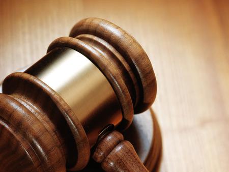 judge: judge gavel on wooden background.Close up