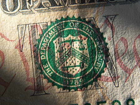 federal: United States Federal Reserve System symbol.Close up