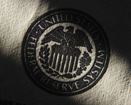 federal states: United States Federal Reserve System symbol.Close up