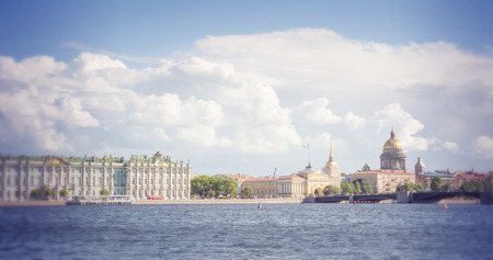 hermitage: View of the Saint Isaacs Cathedral the Admiralty and Winter Palace. Filtered image