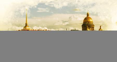 filtered: horizonte en San Petersburgo, Rusia. Imagen filtrada