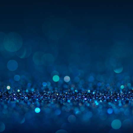 bokeh lights: Defocused abstract blue lights background . bokeh lights. concept.