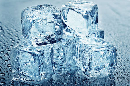 ices: Close up view of some ice pieces in water Stock Photo