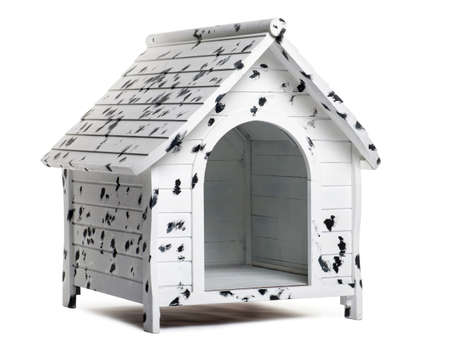 kennel: Dog kennel, isolated on white