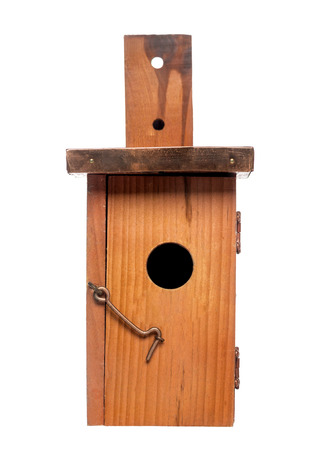 bird house: Birdhouse, isolated on white
