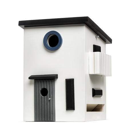 bird house: birdhouse isolated on white