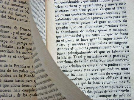 antiquary: Libro espa�ol del siglo 19  Foto de archivo
