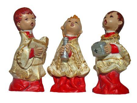 liturgical: Altar Boys singing in a liturgical service