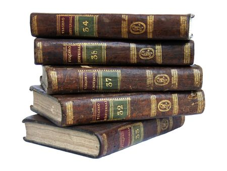 antiquary: Old travel books from the 19th century Stock Photo