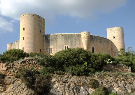 palma: Bellver Castle in Palma of Majorca (Balearic Islands - Spain) Stock Photo