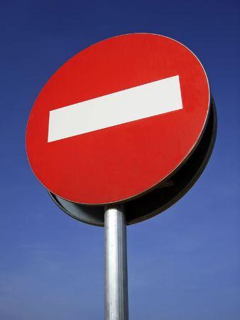 hinder: Forbidden Direction Sign in an european road