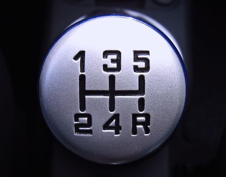 reverse: manual transmission gear in a car